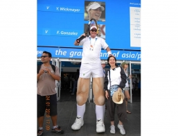 Giant Tennis Player